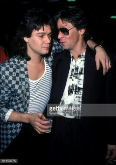 Eddie and Alex Van Halen ❤️ Eddie Van Halen, Alex Van Halen, Wolfgang Van Halen, Valerie Bertinelli, Best Guitarist, Thin Lizzy, Guitar Songs, Janis Joplin, Prince Charming