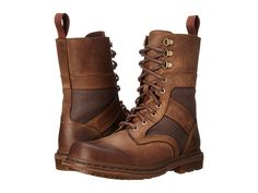 Dr. Martens Arun Fold Down Boot Aztec Darkened Crazy Horse/Brown Ze You Wax Canvas - 6pm.com