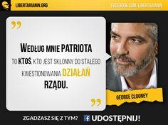 #george #clooney #aktor #hollywood #celebryta #gwiazda #patriotyzm #kwestionowanie #dzialan #rzadu #wolnosc #libertarianizm