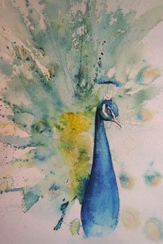 Watercolor Bird, Watercolor Animals, Tattoo Watercolor, Watercolor Background, Watercolor Artists, Watercolor Art Paintings, Watercolor Portraits, Watercolors, Abstract Paintings