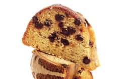 Brown Sugar and Chocolate Chip Pound Cake with Maple-Espresso Glaze