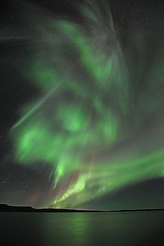 The Northern Lights zone is a circle around the Magnetic North Pole.Iceland is in the circle. | Flickr - Photo Sharing!