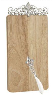 Ganz Cheese Board Fleur De Lis With Spreader 27 95 New Home Wishes Kitchen Essentials