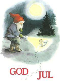 My Inge Löök´s cards,not for trade Swedish Christmas, Christmas Gnome, Christmas Art, All Things Christmas, Vintage Christmas, Christmas Holidays, Christmas 2017, David The Gnome, Christmas Paper Crafts