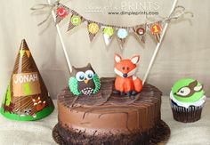 woodland creature camping great outdoors themed first birthday party by dimple prints owl fox deer creatures