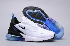 Nike Air Max 270 White Blue Black Multi-Color 300 Trainer Men's Women's Running Shoe - Nike Air Max 270 White Blue Black Multi-Color 300 Trainer Men's Women's Running Shoe - {hashtag} Cute Sneakers, Sneakers Mode, New Sneakers, Sneakers Fashion, Sneakers Adidas, Sneakers Workout, Colorful Sneakers, Nike Running Shoes Women, Nike Air Shoes