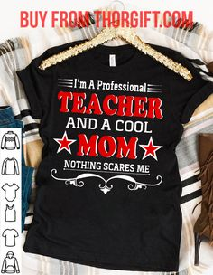 Teacher Cool Mom | Mom Gifts | Mom Shirts | Gifts For Mom | Gift Ideas For Mom – Fine Public Momma Shirts, Tee Shirts, Tees, Presents For Mom, Mom Gifts, Shirts With Sayings, Mom Humor, Best Mom, Cool Stuff