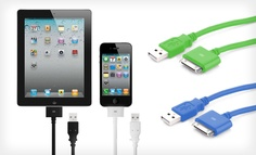 Groupon - $ 9.99 for a Nuinno USB Charging Cable for iPhone, iPod, and iPad ($ 29.95 List Price). 4 Colors Available.. Groupon deal price: $9.99