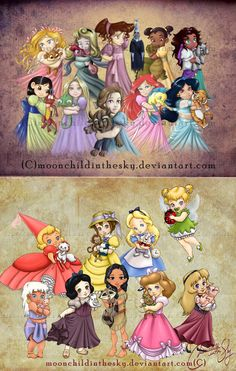 Children Princesses 2011 & 2012 Collections by moonchildinthesky.deviantart.com on @deviantART