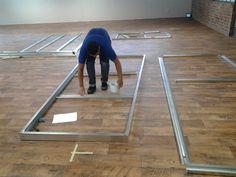 Light steel framing being put together