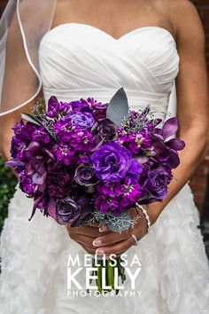 True Purple wedding flowers - are your flowers red or purple or a mix?