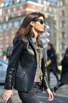 black leather blazer. ummmm... freakin awesome. #BarbaraMartello