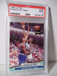 1992 Fleer Ultra Shaquille O'Neal RC PSA Mint 9 Basketball Card #328 NBA…