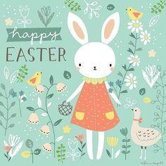 Happy Easter! Art by Flora Waycott @florawaycott #Repost ... Happy Easter I hope everyone has a lovely long weekend! xx #florawaycott #easter