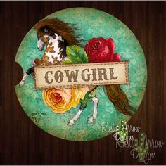 Horses and Cowgirls Set of 2 Car Coasters - Car Coasters Cute Wallpapers, Horse Painting, Camo Wallpaper, Neon Cactus, Arrow Design