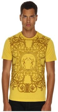 Versace Collection - Frozen Baroque Print Tee (Gold) - Apparel on shopstyle.com
