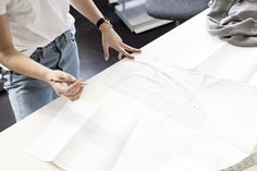 Working in the Charlie May design studio, wearing Levi's 501CT's. #LiveinLevis