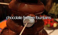 Chocolate fondue fountains. #littlereasonstosmile