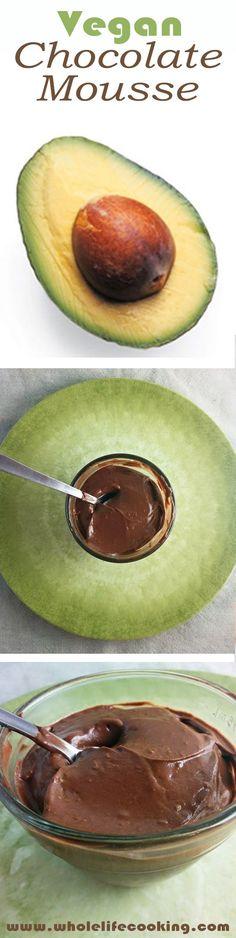 Paleo, vegan Chocolate Mousse www.wholelifecooking