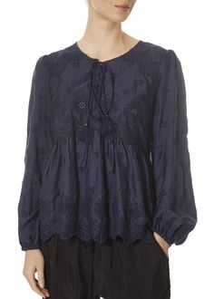 This is the 'Elise' Saphire Blue Pheasant Top by stunning brand Johnny Was. This contemporary take on a classic top features a lovely front tie, ruffle bottom, and embroidered front. Leopard Dress, Pink Leopard, Johnny Was Clothing, Pheasant, Striped Shorts, Yellow Dress, Women's Tops, Fashion Ideas, Ruffle Blouse