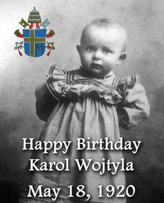 So thankful to God for this wonderful Pope; Saint John Paul II, we love you - happy birthday! Religion Catolica, Catholic Religion, Catholic Saints, Roman Catholic, Orishas Yoruba, Papa Juan Pablo Ii, Juan Xxiii, Pope John Paul Ii, Paul 2