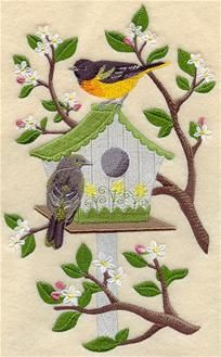 Machine Embroidery Designs at Embroidery Library! - Birdhouses
