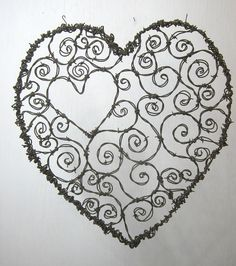 Burly Barbed Wire Valentines Day Heart of Spirals by thedustyraven, $63.00