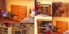Briliant Space Saver: Diy Knee-wall Dresser