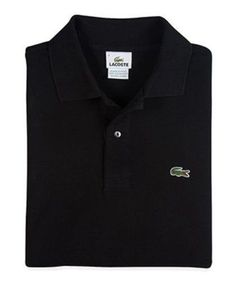NEW Lacoste Polo Shirt XLT Mens Long Sleeve Golf Pique Black Size Sz 8L $115 NWT #Lacoste #PoloRugby