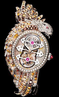 The Ladyhawke Tourbillon jewelry watch by Boucheron and Girard-Perregaux