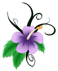 Hawaiian Flower Clip Art | Pin Hibiscus Remixed Free Clip Art Tattoo Flower Cartoon Hawaiian On