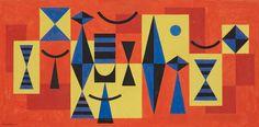 MARIO CARREÑO Untitled, 1955 Gouache on paper 13 3/10 × 27 in 33.7 × 68.6 cm