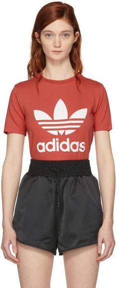 adidas Originals Orange Trefoil T-Shirt #adidas #adidasoriginals #sportswear