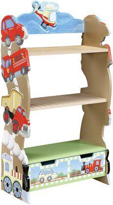 Teamson Children's Bookshelf - Transportation