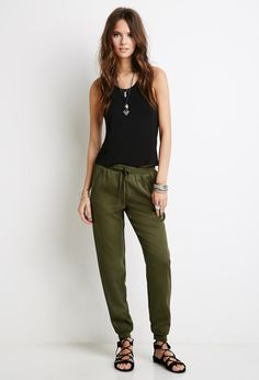Zippered Drawstring Joggers | FOREVER21 - 2000098483