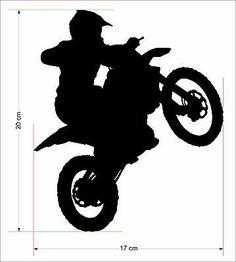 8 Moto X Rider Removable Wall ART Home Decor Sticker Motocross Kids Motorbike | eBay