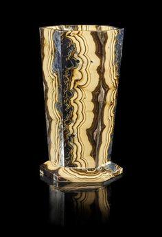 """A Sphalerite and Galena Vase - """"Schalenblende"""", Russia, Olkusz Mine, Bytom District. Upper Silesia, Poland Schalenblende contain - Price Estimate: $800 - $1200"""