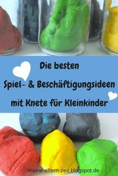Unsere liebsten Rezept- und Spielideen für Kleinkinder mit Knete #Kleinkind #Kinderbeschäftigung #Spielideen #Rezeptideen