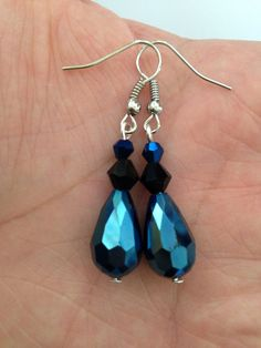 Blue Crystal Drops on Etsy, $10.00