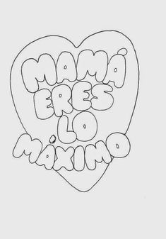 Maestra de Primaria: Tarjetas del día de la Madre para colorear Mothers Day Coloring Pages, Diy Cake Topper, Diy And Crafts, Paper Crafts, Hand Lettering Alphabet, Birthday Diy, Stuffed Toys Patterns, Mandala Art, Disney Art