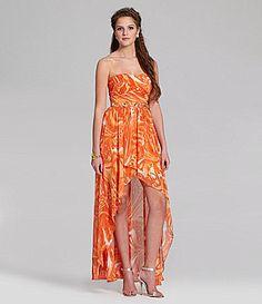 Jump Printed Chiffon HiLow Dress #Dillards $169.00