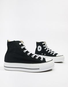 Converse Chuck Taylor All Star platform hi black sneakers 5533c05c1890