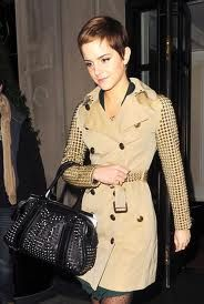 omg her burberry bag is to die for