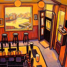 The Free Trade - Jim Edwards Building Art, Through The Window, Open Window, Colorful Paintings, London City, Limited Edition Prints, Photo Art, Giclee Print, Framed Prints