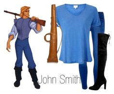 """""""John Smith~ DisneyBound"""" by basic-disney ❤ liked on Polyvore featuring Dorothy Perkins, EAST, Stuart Weitzman and Ghurka"""