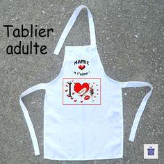 Tablier de cuisine Adulte amour-à personnaliser avec Prénom ou surnom