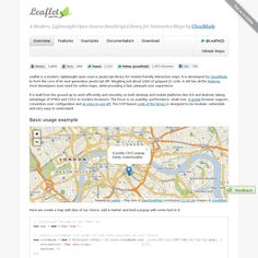 """Leaflet"" - A Modern, Lightweight Open-Source JavaScript Library for making Interactive Maps."