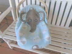 Boys Appliqued Elephant Baby Carrier Cover   Two by lindasnd