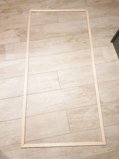 verrière cadre bois Habitats, Tile Floor, Interior Decorating, Crafts, We, Home Decor, Transparent, Armoire, Industrial