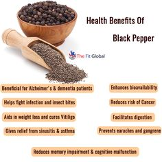 Health Benefits Of Black Pepper #weightloss #cancer #health #thefitglobal